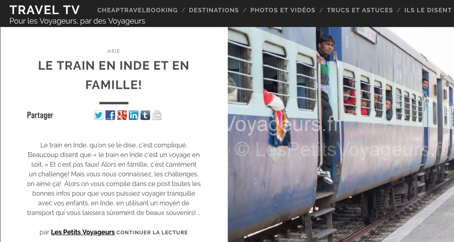 Travel TV : Le train en Inde et en famille