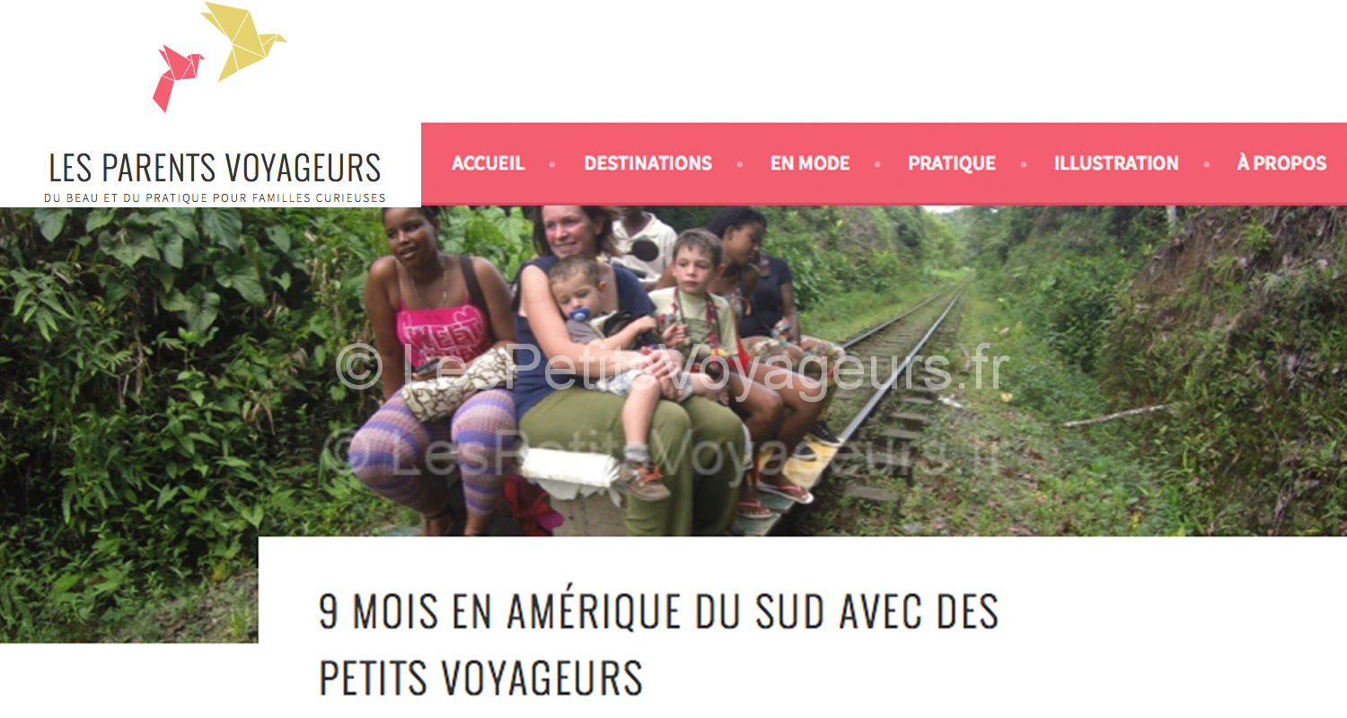 Interview sur le blog : Les parents Voyageurs